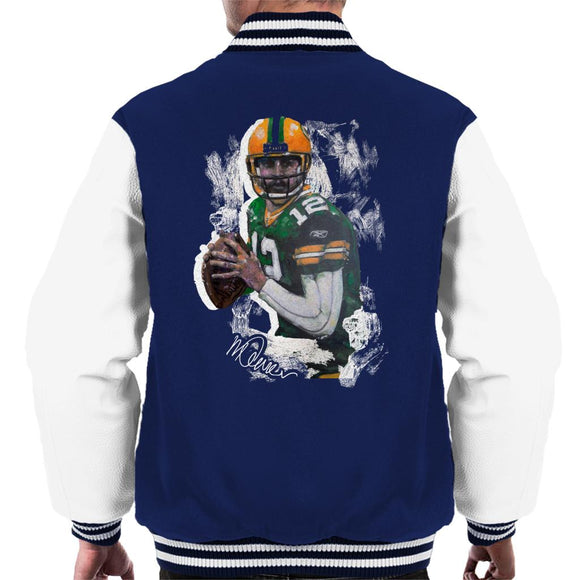 Sidney Maurer Original Portrait Of Aaron Rodgers Men's Varsity Jacket
