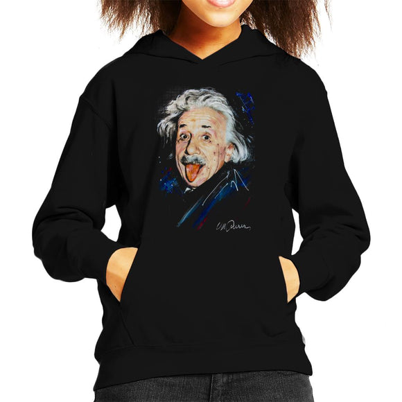 Sidney Maurer Original Portrait Of Albert Einstein Kid's Hooded Sweatshirt