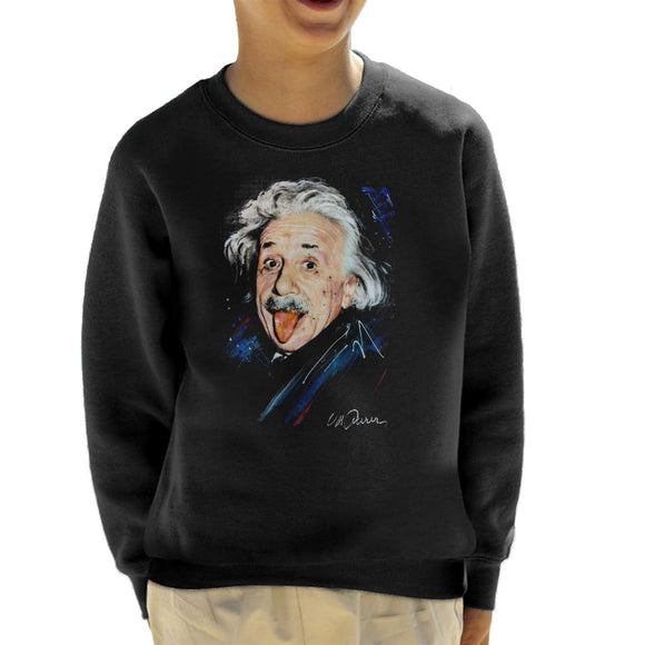 Sidney Maurer Original Portrait Of Albert Einstein Kid's Sweatshirt