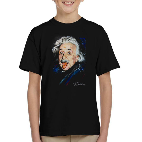 Sidney Maurer Original Portrait Of Albert Einstein Kid's T-Shirt