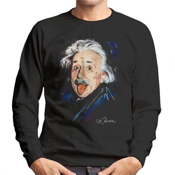 Sidney Maurer Original Portrait Of Albert Einstein Men's Sweatshirt