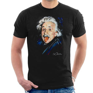Sidney Maurer Original Portrait Of Albert Einstein Men's T-Shirt