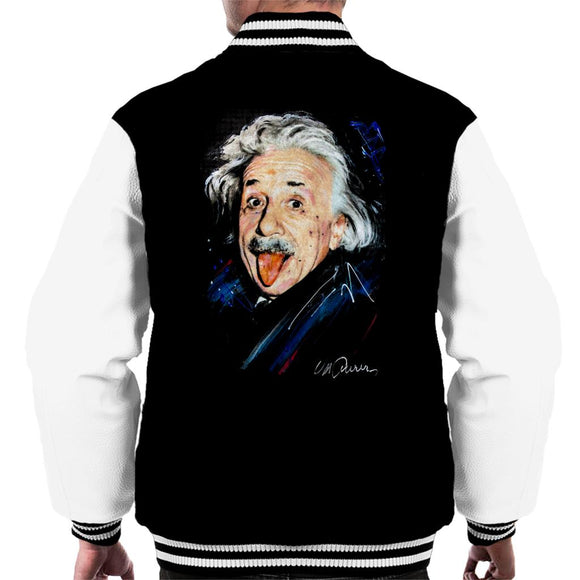 Sidney Maurer Original Portrait Of Albert Einstein Men's Varsity Jacket