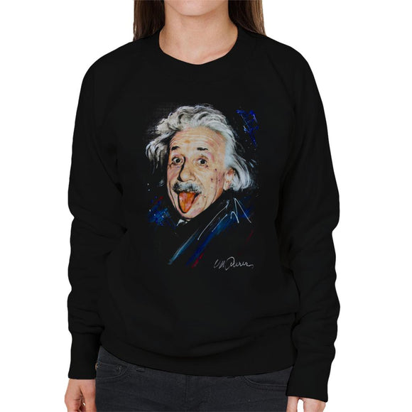 Sidney Maurer Original Portrait Of Albert Einstein Women's Sweatshirt