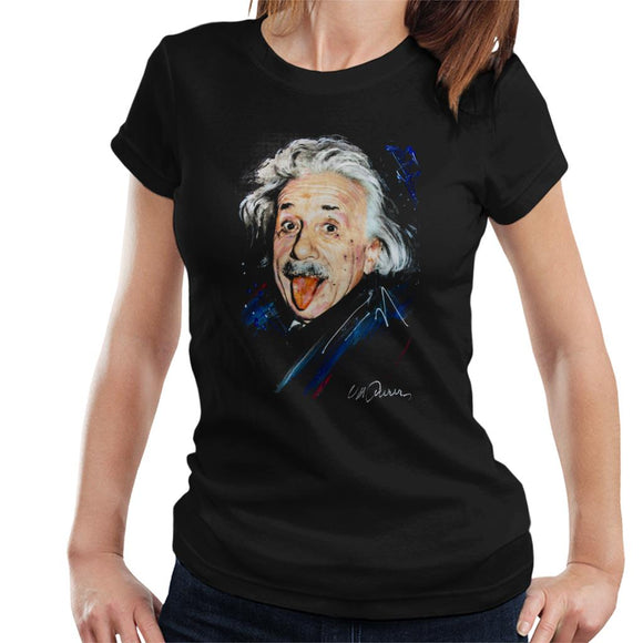 Sidney Maurer Original Portrait Of Albert Einstein Women's T-Shirt