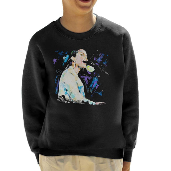 Sidney Maurer Original Portrait Of Alicia Keys Kid's Sweatshirt