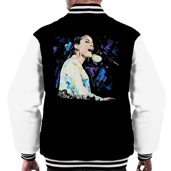 Sidney Maurer Original Portrait Of Alicia Keys Men's Varsity Jacket