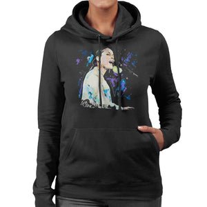 Sidney Maurer Original Portrait Of Alicia Keys Women's Hooded Sweatshirt