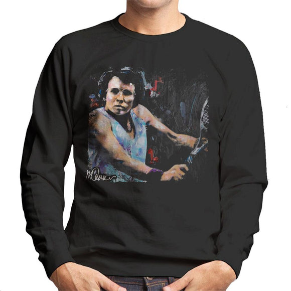 Sidney Maurer Original Portrait Of Billie Jean King Men's Sweatshirt