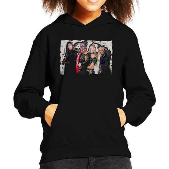 Sidney Maurer Original Portrait Of Black Eyed Peas Kid's Hooded Sweatshirt