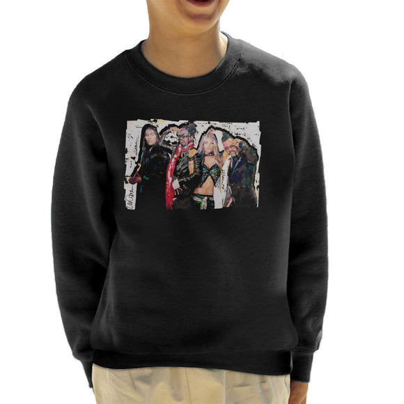 Sidney Maurer Original Portrait Of Black Eyed Peas Kid's Sweatshirt