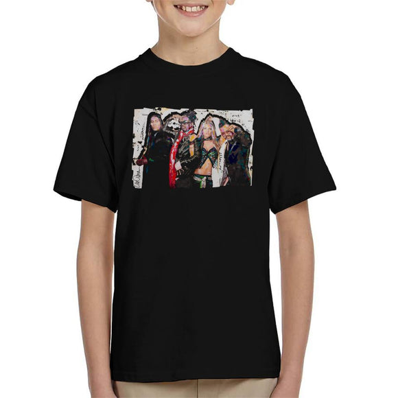 Sidney Maurer Original Portrait Of Black Eyed Peas Kid's T-Shirt