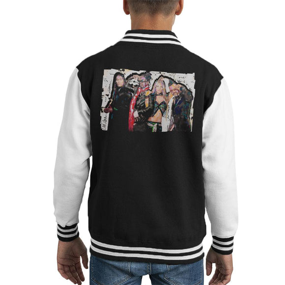 Sidney Maurer Original Portrait Of Black Eyed Peas Kid's Varsity Jacket