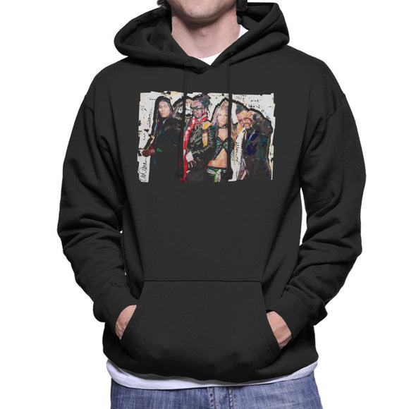 Sidney Maurer Original Portrait Of Black Eyed Peas Men's Hooded Sweatshirt