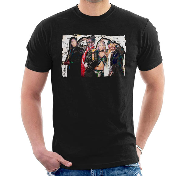Sidney Maurer Original Portrait Of Black Eyed Peas Men's T-Shirt