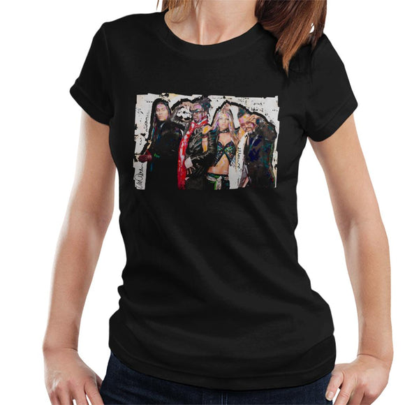 Sidney Maurer Original Portrait Of Black Eyed Peas Women's T-Shirt