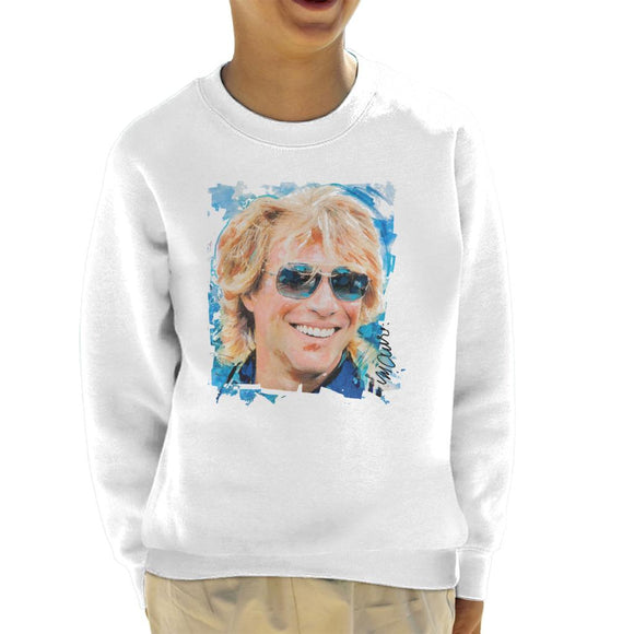 Sidney Maurer Original Portrait Of Jon Bon Jovi Kid's Sweatshirt