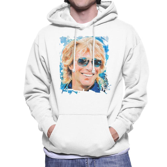 Sidney Maurer Original Portrait Of Jon Bon Jovi Men's Hooded Sweatshirt
