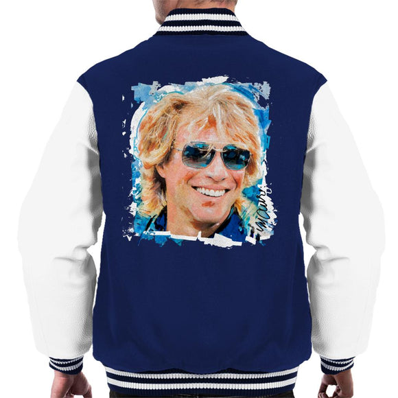 Sidney Maurer Original Portrait Of Jon Bon Jovi Men's Varsity Jacket
