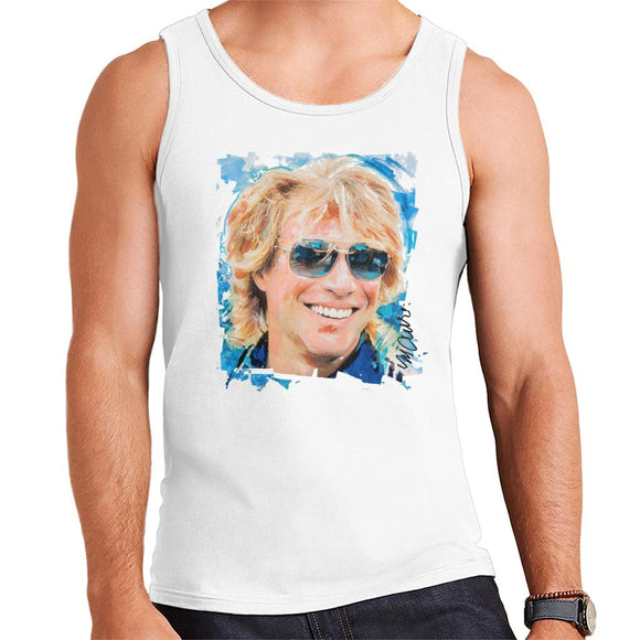 Sidney Maurer Original Portrait Of Jon Bon Jovi Men's Vest