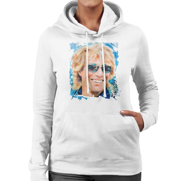 Sidney Maurer Original Portrait Of Jon Bon Jovi Women's Hooded Sweatshirt