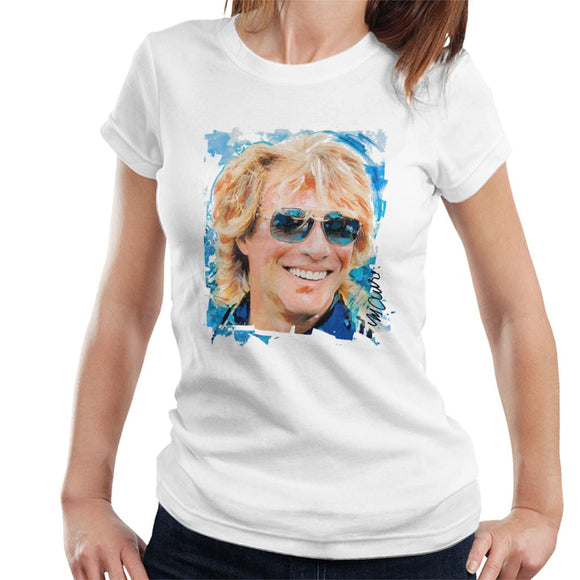 Sidney Maurer Original Portrait Of Jon Bon Jovi Women's T-Shirt