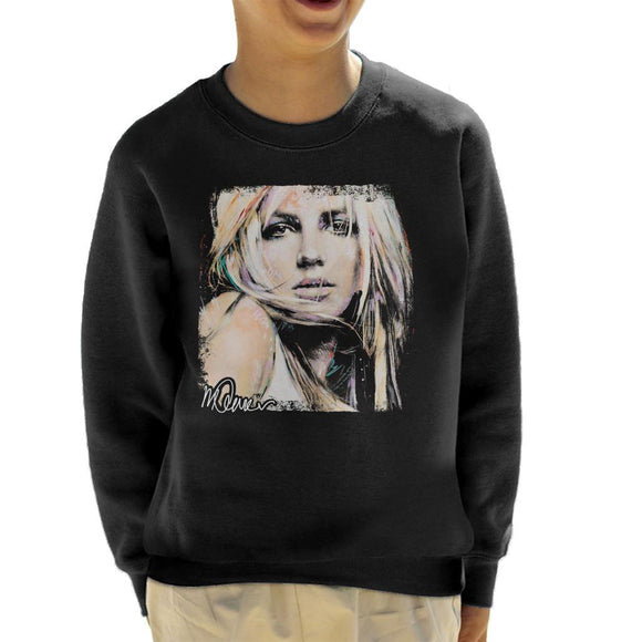 Sidney Maurer Original Portrait Of Britney Spears Kid's Sweatshirt