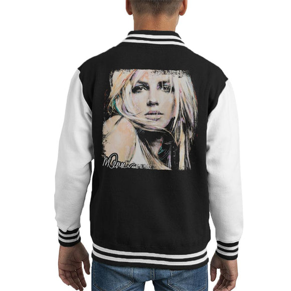 Sidney Maurer Original Portrait Of Britney Spears Kid's Varsity Jacket