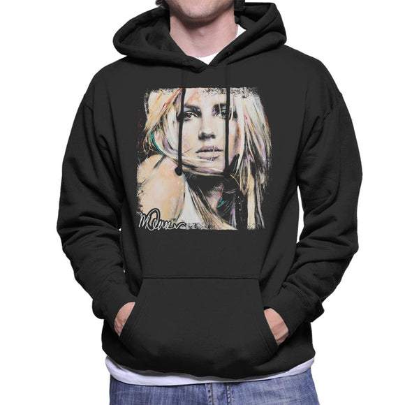 Sidney Maurer Original Portrait Of Britney Spears Men's Hooded Sweatshirt