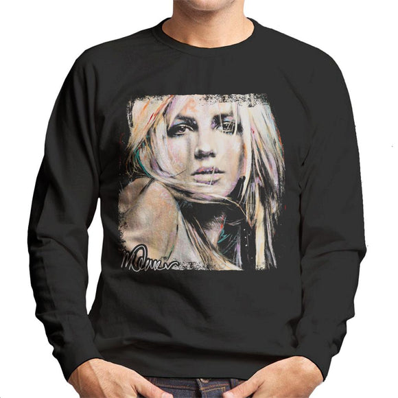 Sidney Maurer Original Portrait Of Britney Spears Men's Sweatshirt