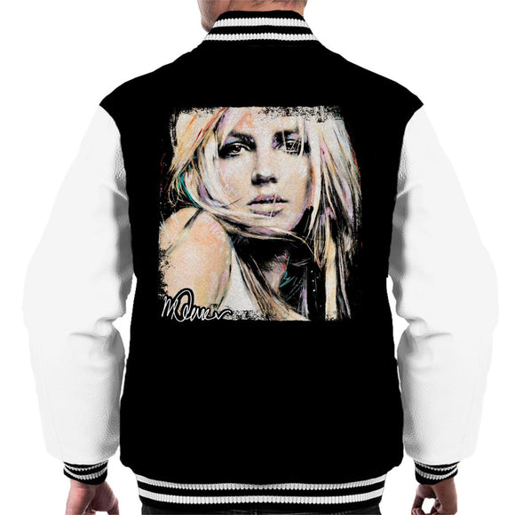 Sidney Maurer Original Portrait Of Britney Spears Men's Varsity Jacket