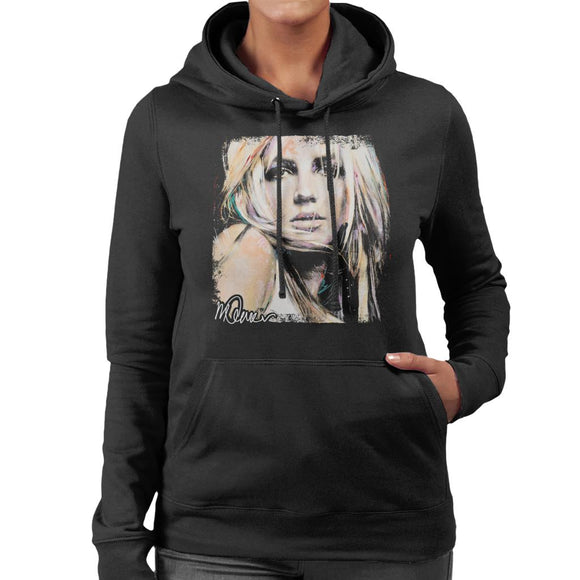 Sidney Maurer Original Portrait Of Britney Spears Women's Hooded Sweatshirt
