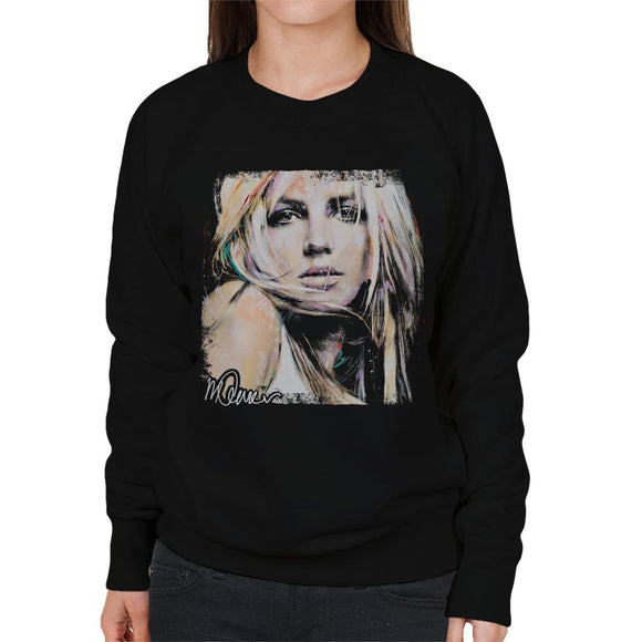 Sidney Maurer Original Portrait Of Britney Spears Women's Sweatshirt