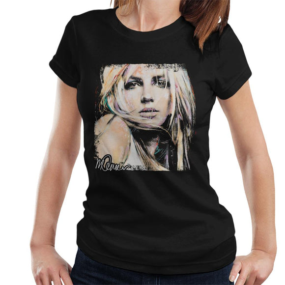 Sidney Maurer Original Portrait Of Britney Spears Women's T-Shirt