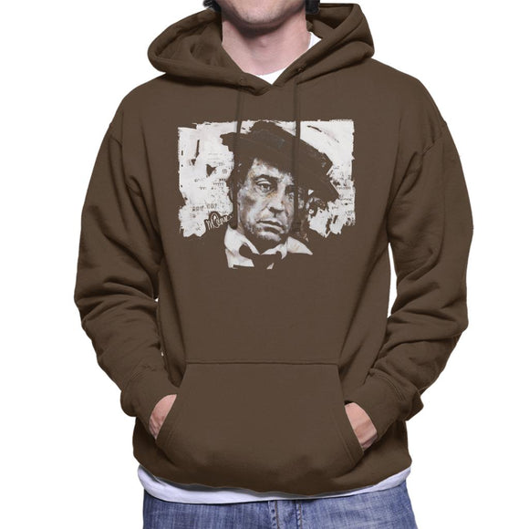 Sidney Maurer Original Portrait Of Buster Keaton Men's Hooded Sweatshirt