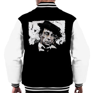 Sidney Maurer Original Portrait Of Buster Keaton Men's Varsity Jacket