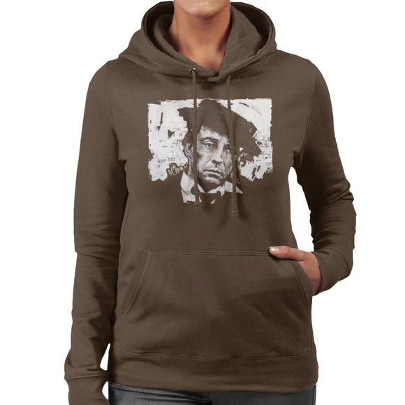 Sidney Maurer Original Portrait Of Buster Keaton Women's Hooded Sweatshirt