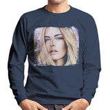 Sidney Maurer Original Portrait Of Cara Delevingne Men's Sweatshirt