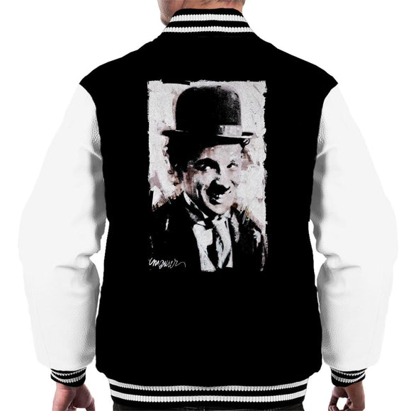 Sidney Maurer Original Portrait Of Charlie Chaplin Smiling Men's Varsity Jacket