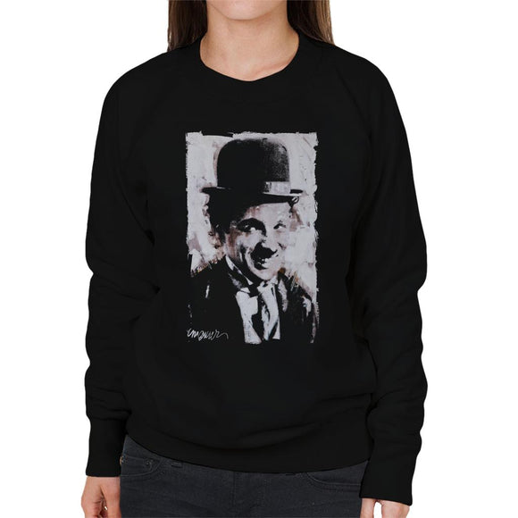 Sidney Maurer Original Portrait Of Charlie Chaplin Smiling Women's Sweatshirt