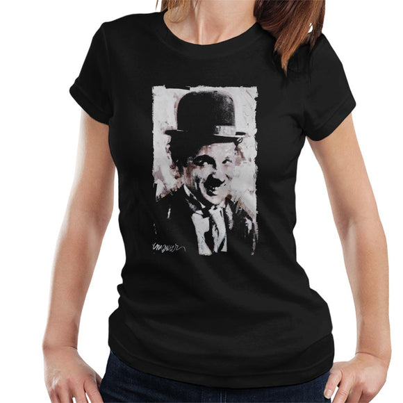 Sidney Maurer Original Portrait Of Charlie Chaplin Smiling Women's T-Shirt
