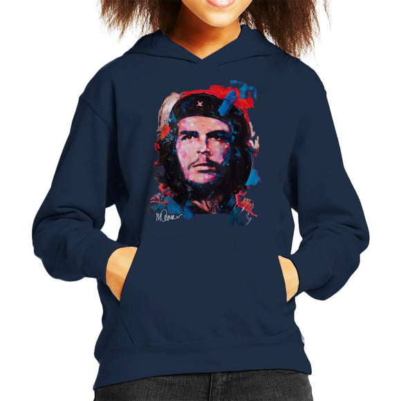 Sidney Maurer Original Portrait Of Che Guevara Kid's Hooded Sweatshirt
