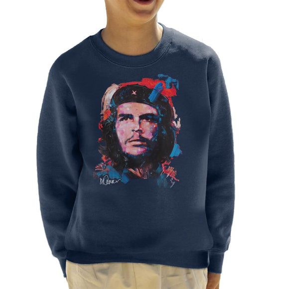 Sidney Maurer Original Portrait Of Che Guevara Kid's Sweatshirt