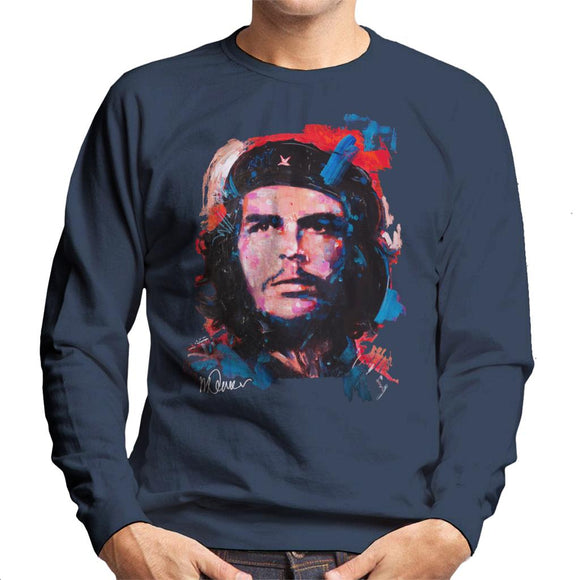 Sidney Maurer Original Portrait Of Che Guevara Men's Sweatshirt