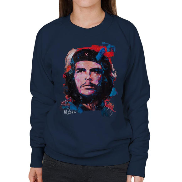 Sidney Maurer Original Portrait Of Che Guevara Women's Sweatshirt
