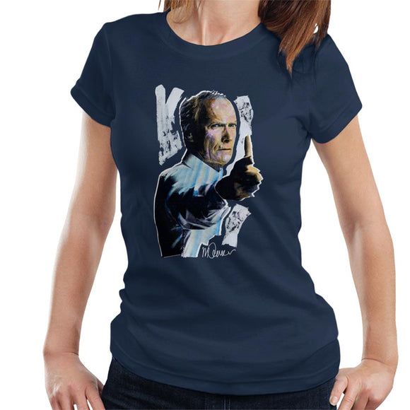Sidney Maurer Original Portrait Of Clint Eastwood Gran Torino Women's T-Shirt