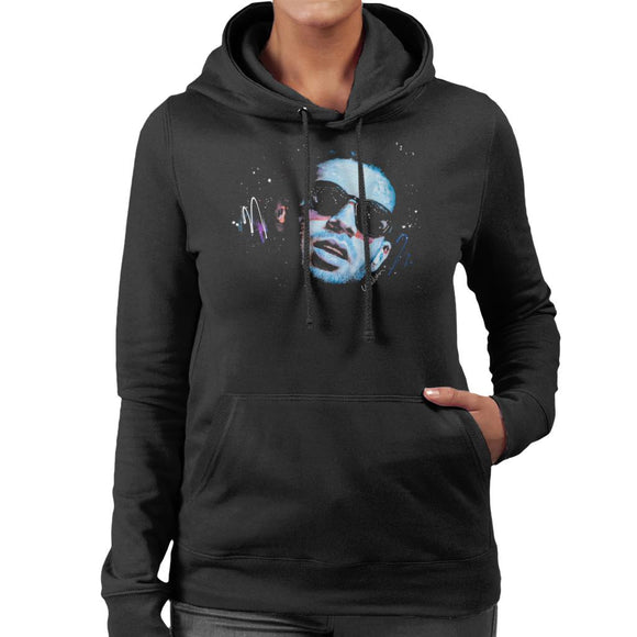 Sidney Maurer Original Portrait Of Drake Sunglasses Women's Hooded Sweatshirt