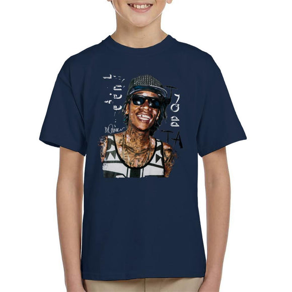 Sidney Maurer Original Portrait Of Wiz Khalifa Kid's T-Shirt