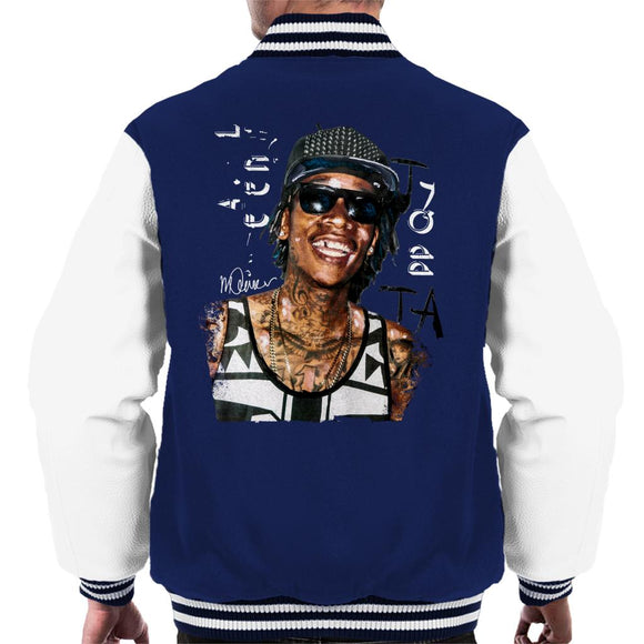 Sidney Maurer Original Portrait Of Wiz Khalifa Men's Varsity Jacket