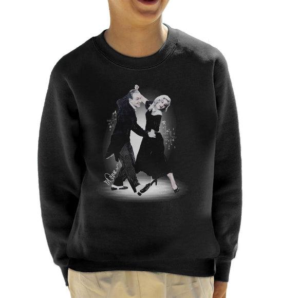 Sidney Maurer Original Portrait Of Fred Astaire Kid's Sweatshirt